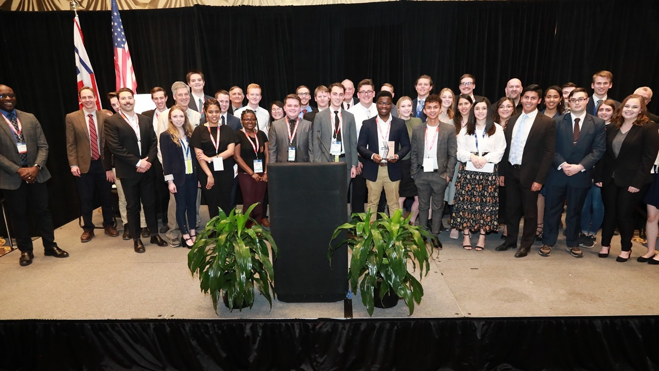 Winners of the outstanding student awards for 2019