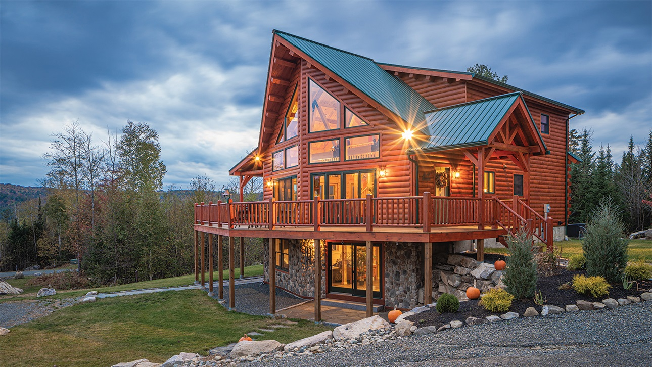 Coventry Log Homes Lancaster Exterior